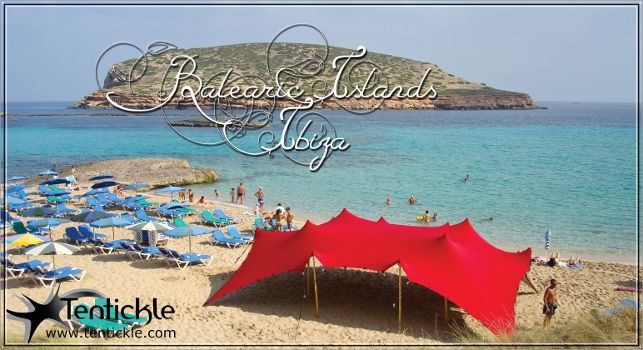Bright red stretch tents - Ibiza #ibiza