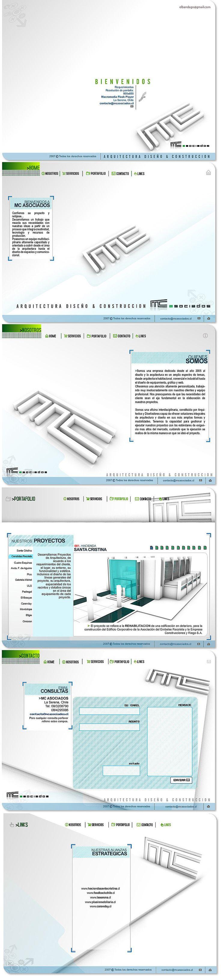 2007 / MC Asociados on Behance #design #web #uidesign #ui