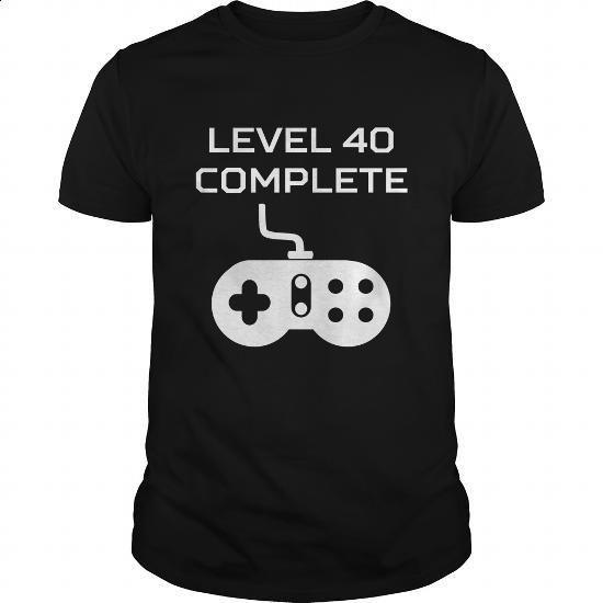 Level 40 Complete Video Games 40th Birthday - #mens #mens shirts. CHECK PRICE… https://www.birthdays.durban