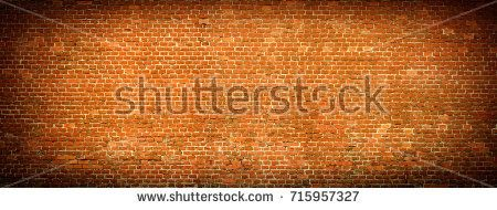 Old red Brick wall panoramic view. Vintage background.