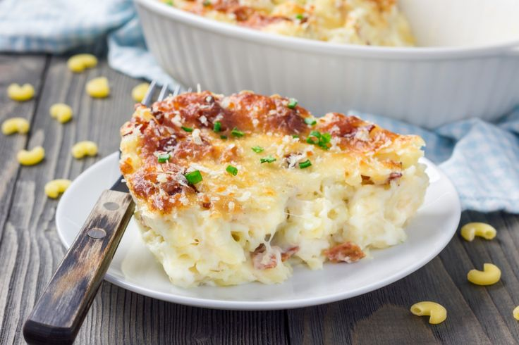 instead of simply reheating, add some elbow macaroni and a ton of cheese, bake in the oven and serve up a decadent combination of deliciousness: mashed potato mac 'n' cheese