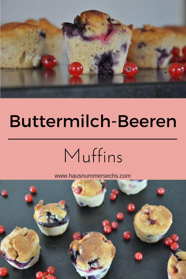 einfach Buttermilch-Beeren Muffins für Zwischendurch, als Frühstück, Sack, Jause oder einfach so....