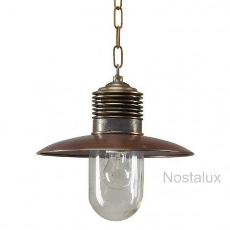 Stoer & Industrieel - Hanglamp Ampère aan ketting Brons/koper