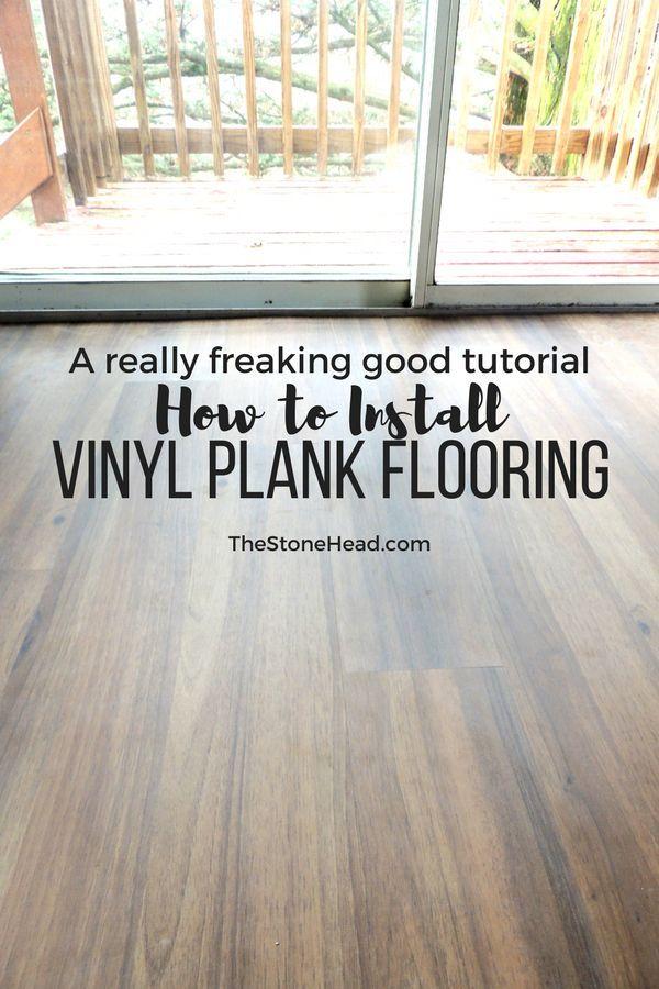 Vinyl Plank Flooring Tutorial No Nails