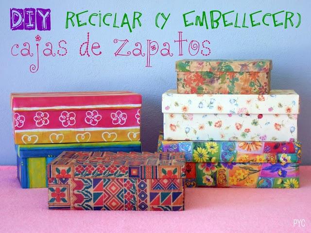 Reciclar caja de zapatos - Recycle shoeboxes