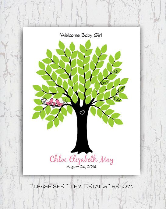 11x14 GUEST BOOK TREE POSTER  This personalized guest book poster has 104 signature leaves for your guests to sign. A fun alternative to a traditional guest book, it can be customized to your personal preference: your choice of wording, font style, with or without birds, etc. Feel free to contact me if you have any questions. ~~~~~~~~~~~~~~~~~~~~~~~~~~~~~~~~~~~~~~~~ PLEASE READ PRIOR TO PURCHASE :) ~~~~~~~~~~~~~~~~~~~~~~~~~~~~~~~~~~~~~~~~ You have two options at checkout. You can purchase…