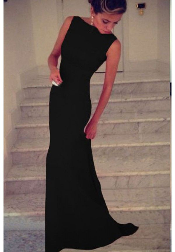 Rochii de seara ieftine: Rochie neagra eleganta Elizabeth