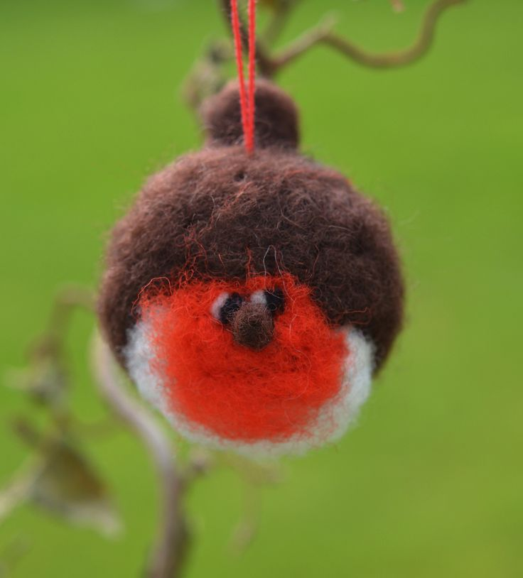 Christmas Robin -Needle felted  by Briege Connolly