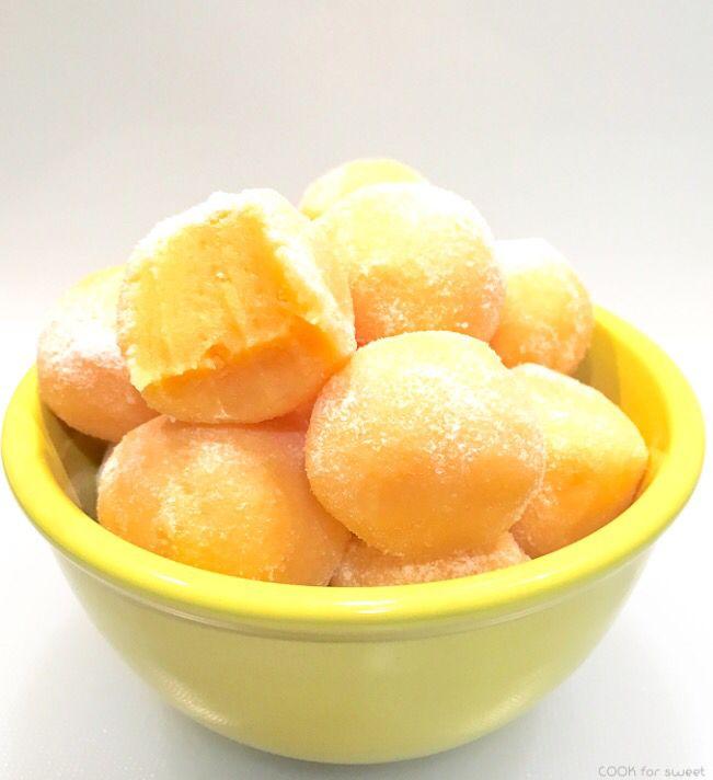 Trufas cremosas de mandarina