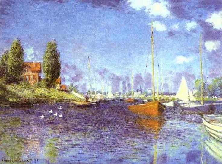 Claude Monet - RED BOATS ARGENTEUIL