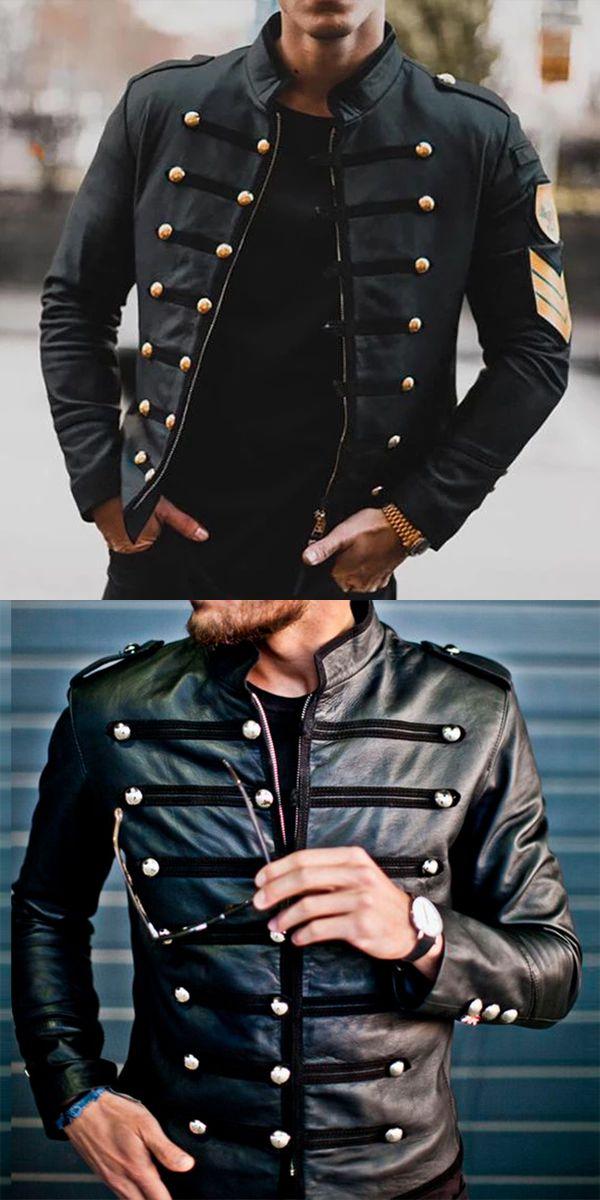 Men's Winter Black Zip Jacket