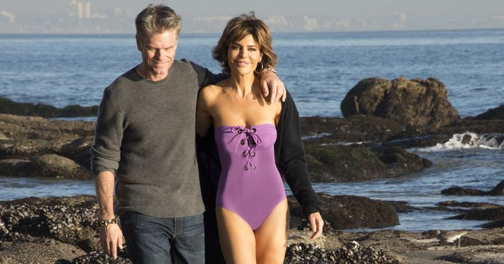Lisa Rinna Sizzles in Purple One-Piece Swimsuit in Throwback Beach Snap with Harry Hamlin - http://howto.hifow.com/lisa-rinna-sizzles-in-purple-one-piece-swimsuit-in-throwback-beach-snap-with-harry-hamlin/