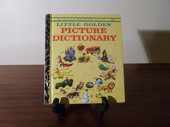 "$8  Vintage 1973 Book ""Little Golden Picture Dictionary"" - A little Golden Book / Kids Book / Great Condition / Childs First Dictionary"