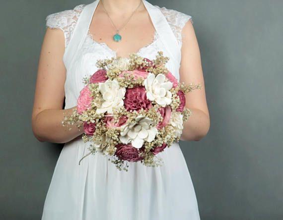 Medium Blush Pink Bridal Wedding Bouquet Natural Gypsophila Baby S