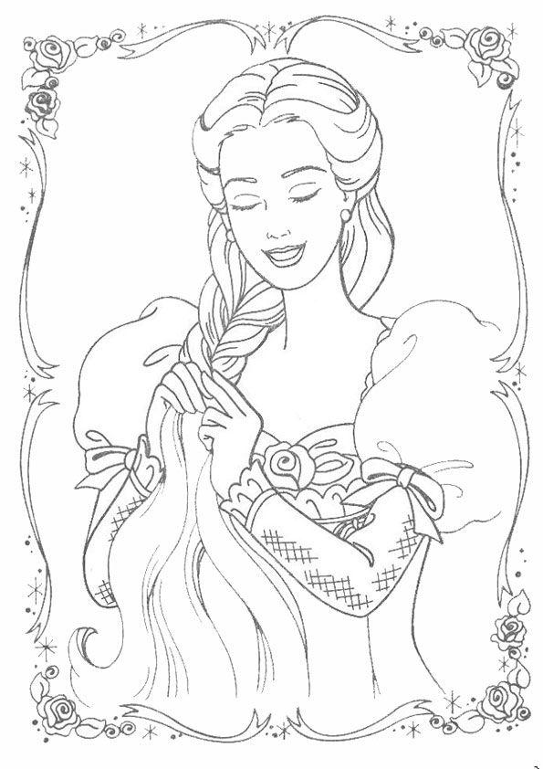 Prinzessin-27 | Barbie malvorlagen, Ausmalbilder ...