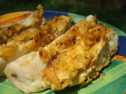 Barbecue Chip Crusted Chicken