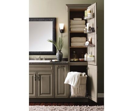 Linen Closet With Removable Hamper