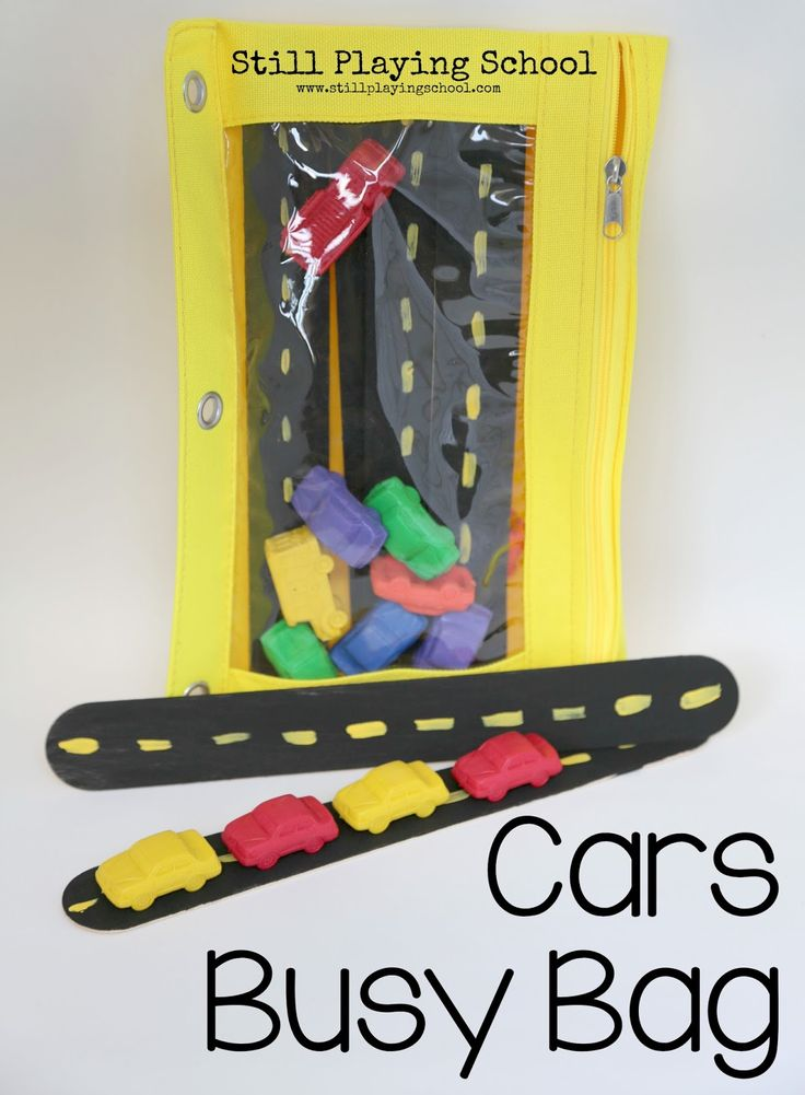 Cars busy bag for kids plus lots of other busy bag ideas!