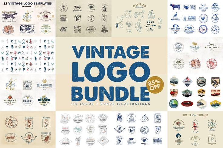 Vintage Logo Bundle by Liviu on @creativemarket