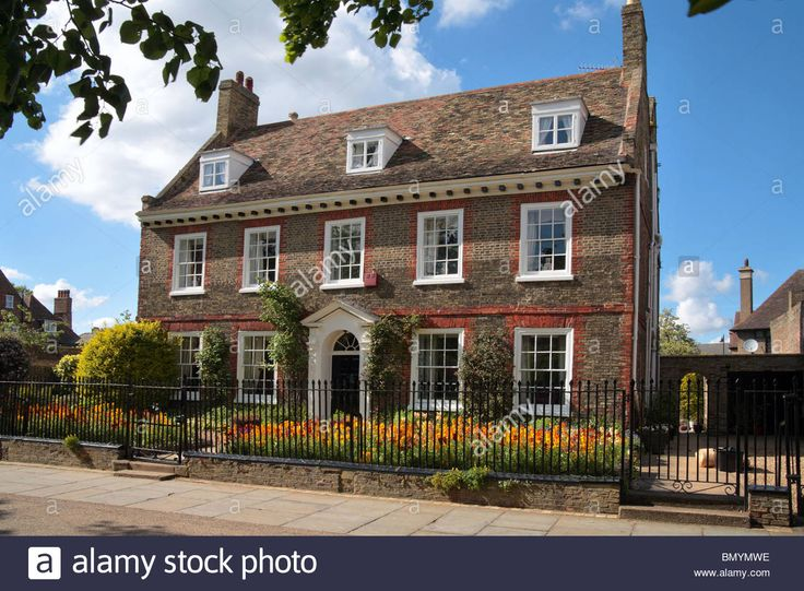 Edwardian house Ely city centre, Cambridge, Cambridgeshire Stock Photo