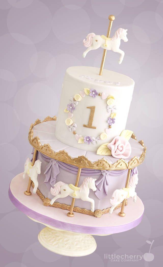 Pastel Carousel Cake - Cake by Little Cherry - CakesDecor