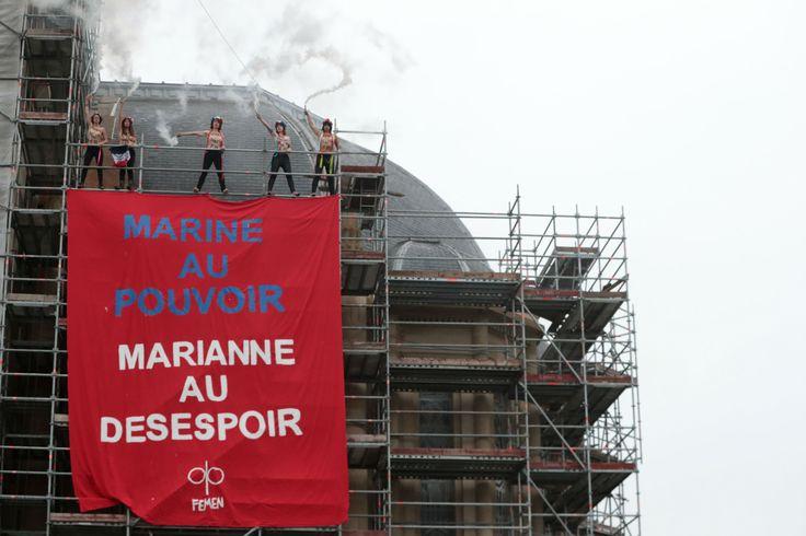 Présidentielle: les Femen engagent une action à Hénin-Beaumont