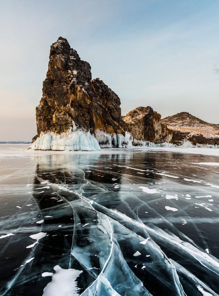 Cracks in the Ice #BeautifulNature #NaturePhotography #Nature #Photography #Ice #Reflections #Frozen