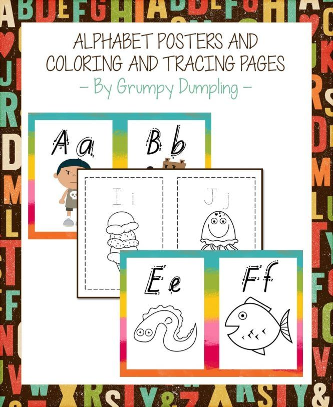 Alphabet Posters Coloring And Tracing Pages