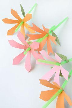 DIY Flower Straws | Oh Happy Day!