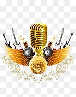 2019 的 golden microphone music microphone png transparent clipart image and psd file for free download 主题 music