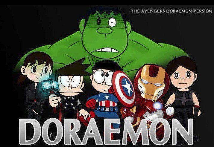 The avengers doraemon version