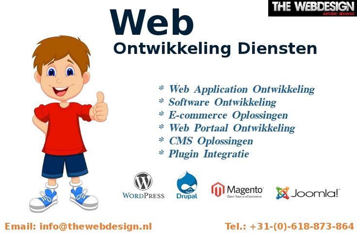 #TheWebDesign biedt de beste #webOntwikkeling diensten in #Nederland. Voor meer contact met ons op info@thewebdesign.nl of bel + 31- (0) 618 873 864.