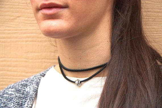 PYKNIC2 elephant choker suede black chocker black by PYKNIC2 $8.50 ☮ & ❥ LOVE www.pyknic2.etsy.com
