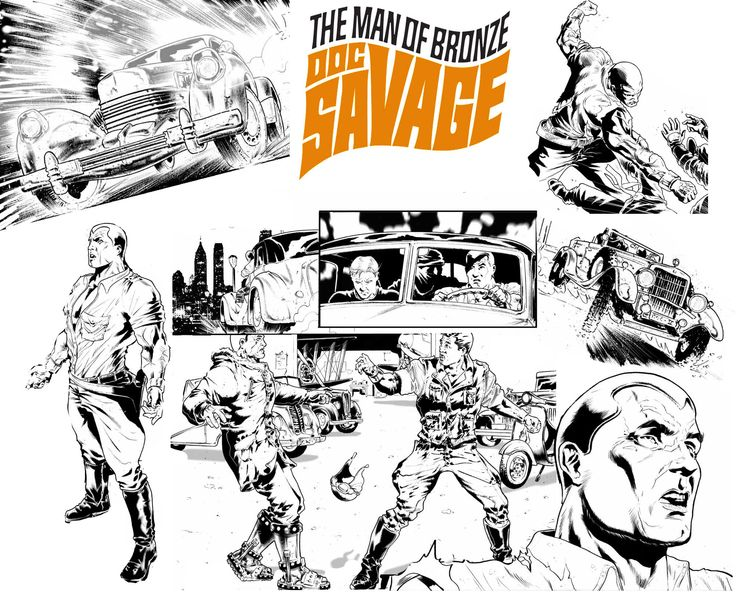 Doc Savage banner for a radio podcast.