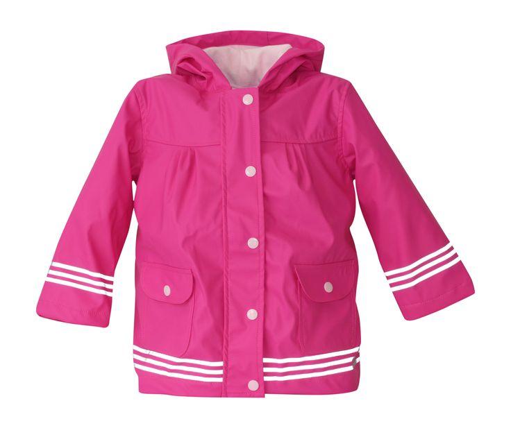 i Rock the Block Girls' Hi-Vis Rain Jacket Bright Pink