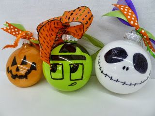 Halloween Non-breakable Ornaments.  Great kids craft for the Holiday