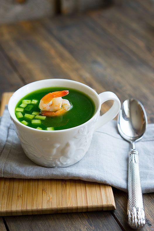 Как приготовить суп из огурцов и креветок, пошаговый фото рецепт, блог с…