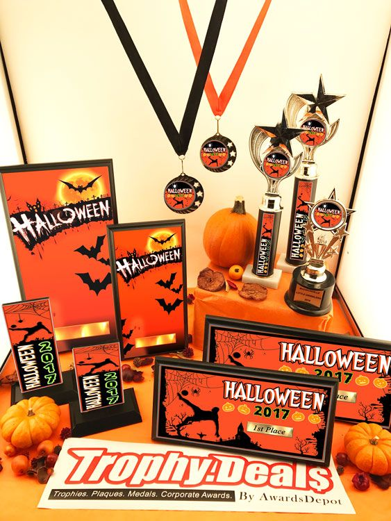 BOO! Checkout our Halloween Trophies, plaques, medals, and wood trophies. The best Halloween Award choices on the market!