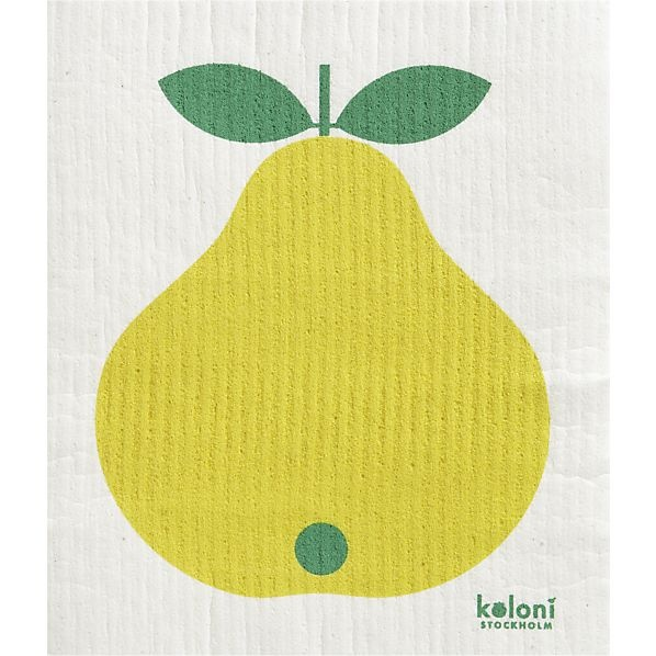 Pear Dishcloth in Kitchen Linens | Crate and Barrel