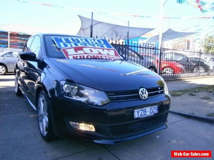 2012 Volkswagen Polo 6R MY12 66 TDI Comfortline Black Automatic 7sp A Hatchback #vwvolkswagen #polo #forsale #australia