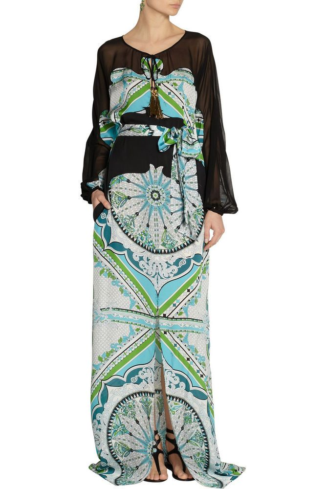 EMILIO PUCCI £2280-UK 10 -USA 8-I 42 LONG MAXI-