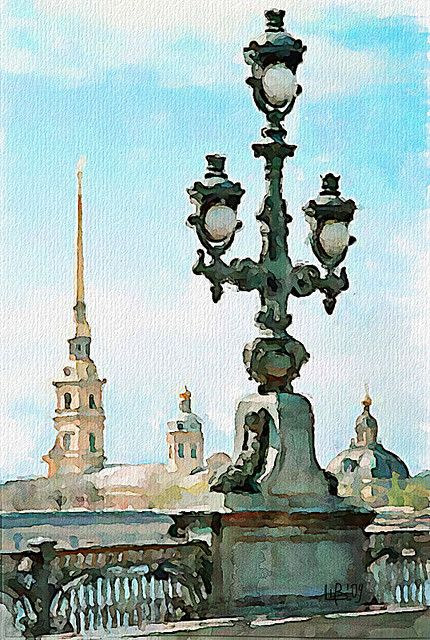 Vitaly Shchukin - Trinity bridge, St. Petersburg