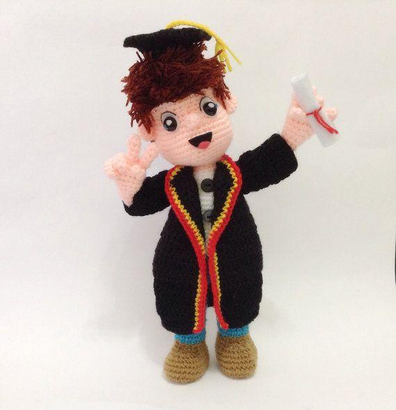 PATTERN  The Graduation doll  Crochet by LittleBambooHandmade