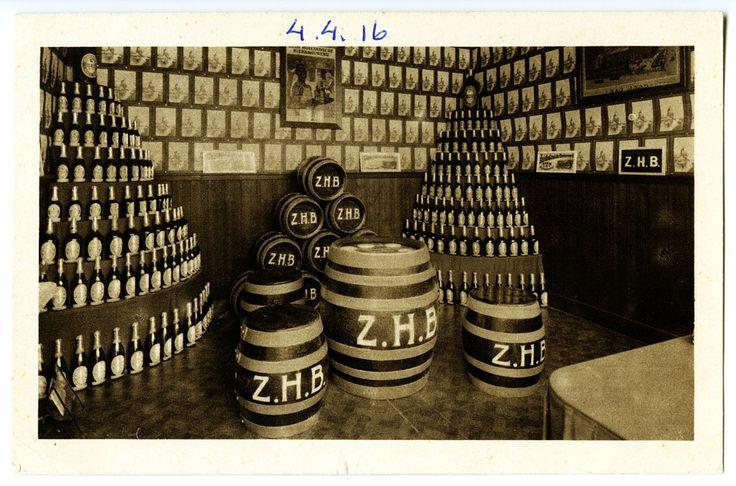 Monsterkamer van de Zuid-Hollandsche Bierbrouwerij stand in de jaarbeurs in utrecht 1918