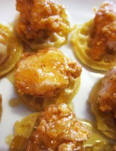 Mini Chicken n Waffles - so fun & so delicious!