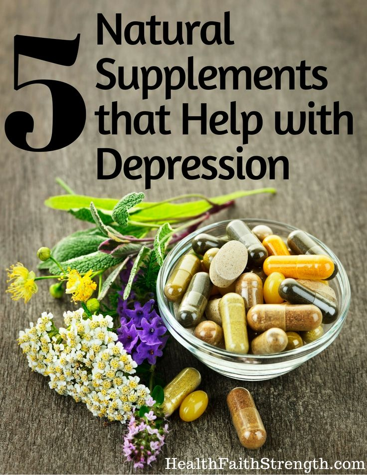 If you have depression, or have ever had depression, you know it's a very difficult thing to experience. Here are 5 natural supplements to help! | HealthFaithStrength.com