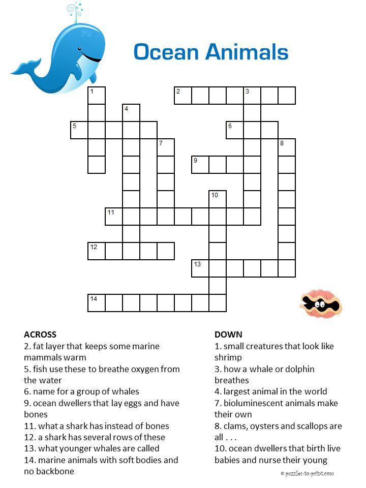 107 Best Crosswords For Kids Images On Pinterest Crossword