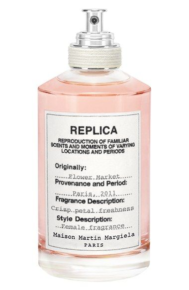 Free shipping and returns on Maison Margiela 'Replica - Flower Market' Fragrance at Nordstrom.com. Fresh cut flowers. Moist petals and snapped stems. Buckets and vases brimming with water, leaves crushed on the floor, a multitude of floral compositions. Maison Martin Margiela captures the delicate fragrance of the flower market.The silhouette of each Replica bottle is inspired by classic apothecary jars, allowing the collection to be instantly identifiable. Each bottle features a 100% cotton…