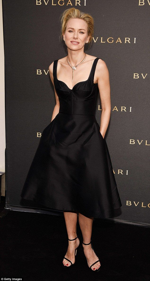 Simply stylish: It was no surprise that the brand ambassador Naomi Watts was on hand to at...