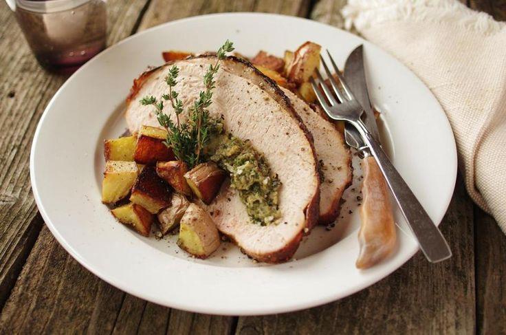 Stuffed Roast Turkey Breast Recipe — Dishmaps